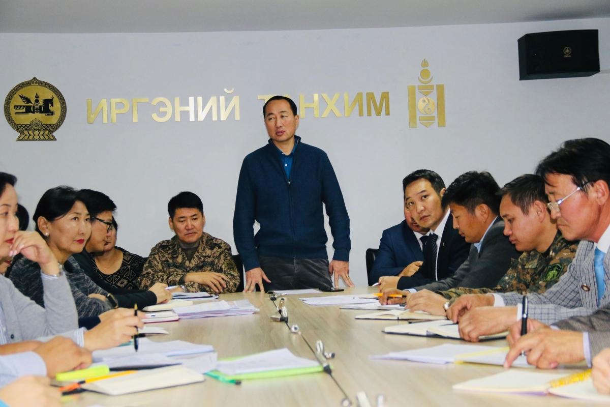 Аймгийн Засаг даргаар ахлуулсан ажлын хэсэг Баяндун, Баян-Уул сумдад ажиллаж байна