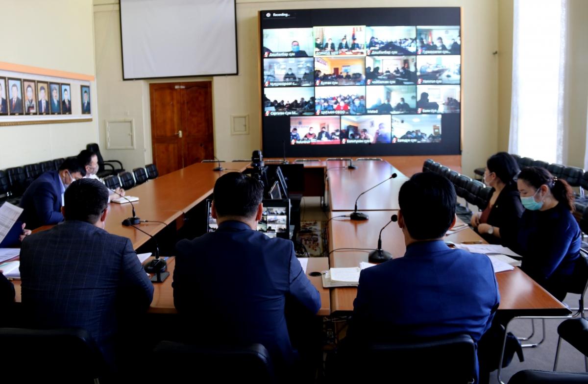 Сумын удирдлагуудтай цахим хурал хийлээ